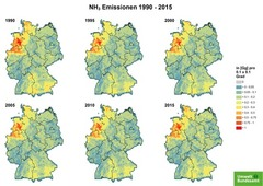 Gridded NH3 emissions from 1990 until 2015
