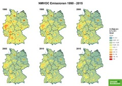 Gridded NMVOC emissions from 1990 until 2015
