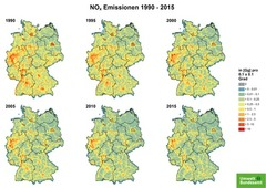 Gridded NOx emissions from 1990 until 2015