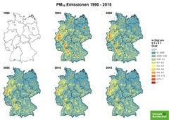 Gridded PM 10 emissions from 1990 until 2015